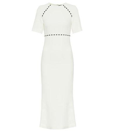 David Koma, Crystal-embellished cady midi dress