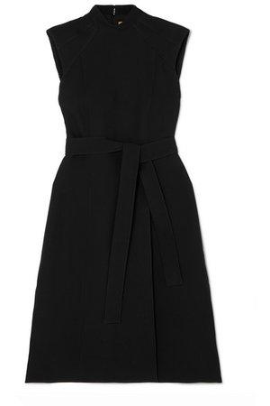 Burberry   Belted wool and silk-blend midi dress   NET-A-PORTER.COM