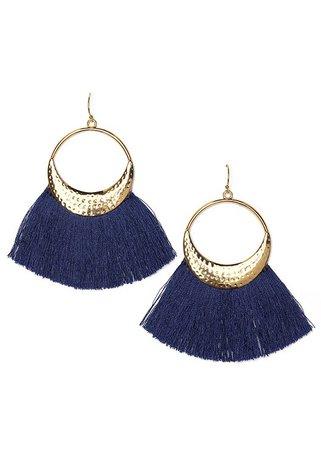 Tassel Earrings in Navy | VENUS