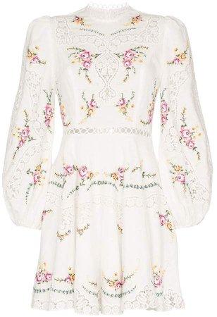 Allia floral print mini dress