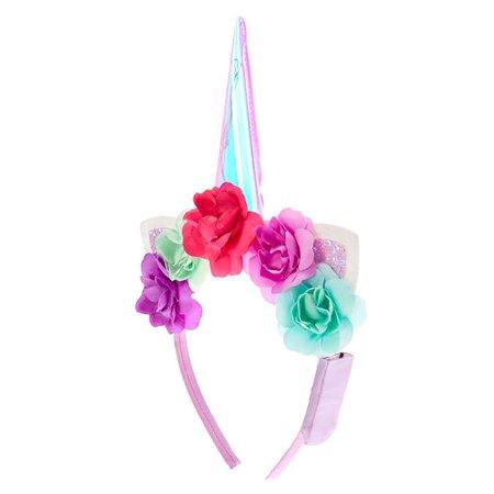 Light Up Unicorn Headband - Purple