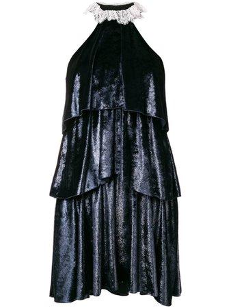 Philosophy Di Lorenzo Serafini ruffled halterneck dress