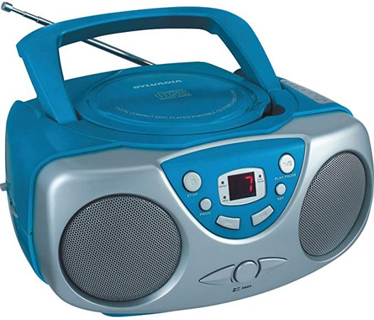 Sylvania SRCD243M-RED Portable Cd Player with Am/FM Radio Boombox (Red): Amazon.ca: Electronics