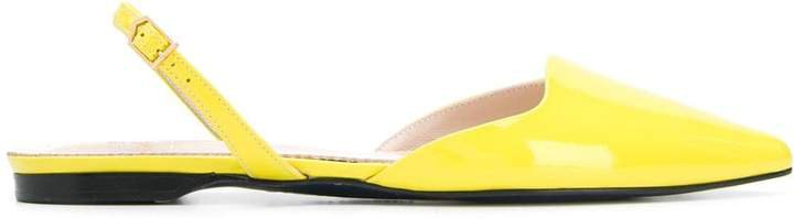 slingback pointed ballerina shoes