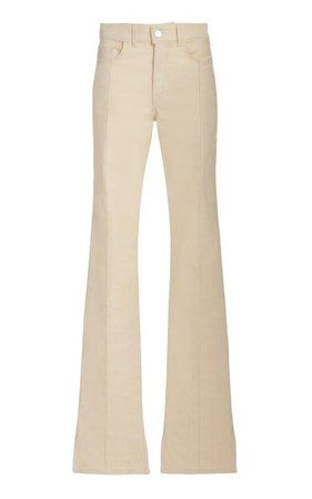 Stretch High-Rise Flared-Leg Jeans By Brandon Maxwell | Moda Operandi