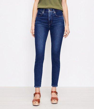 The Petite High Waist Skinny Jean in Pure Dark Indigo Wash
