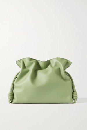 Flamenco Leather Clutch - Green
