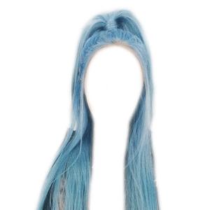 Blue Hair PNG Half Up Ponytail
