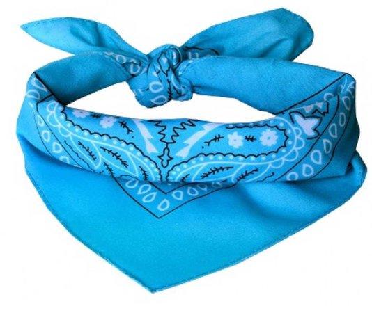 Light blue bandana
