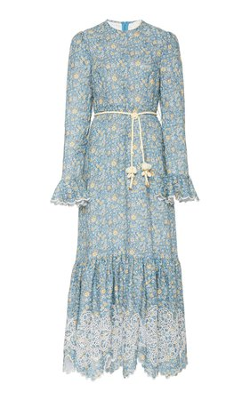 Carnaby Belted Floral Linen Maxi Dress by Zimmermann | Moda Operandi