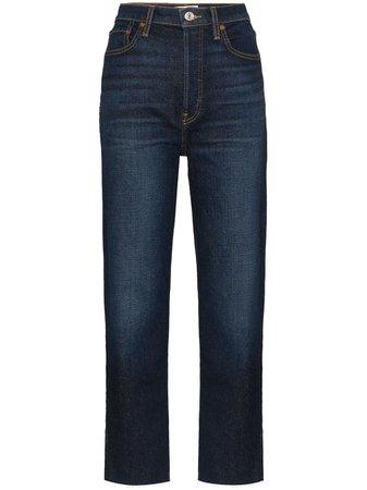 RE/DONE high-rise Dark Wash Jeans - Farfetch