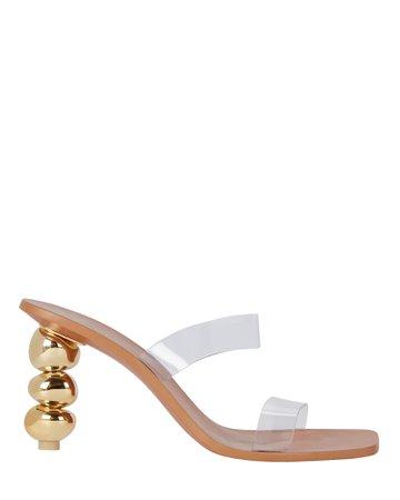 Cult Gaia Meta PVC Sandals   INTERMIX®