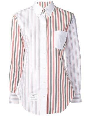 Wide Stripe Flannel Shirt - Farfetch