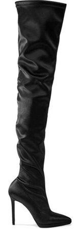 black silk boots