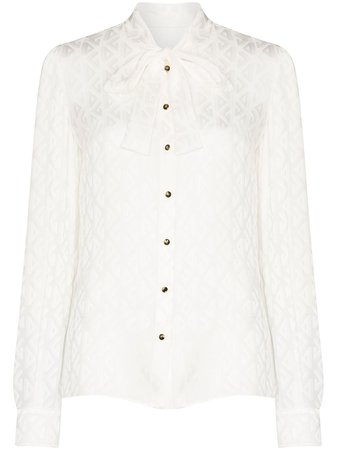 Dolce & Gabbana pussy-bow Buttoned Blouse - Farfetch