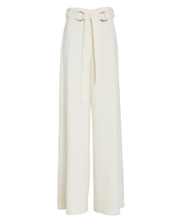 Zimmermann Belted High-Rise Crepe Pants | INTERMIX®