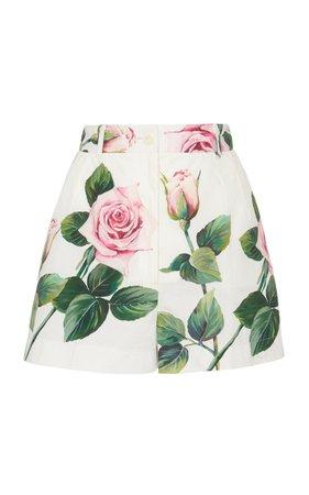 Dolce & Gabbana | floral-print cotton-poplin shorts