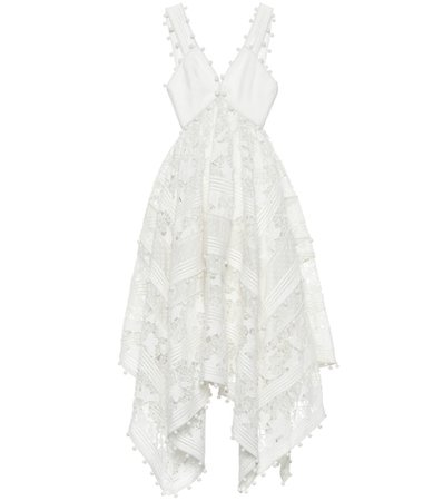 Corsage cotton and silk lace dress