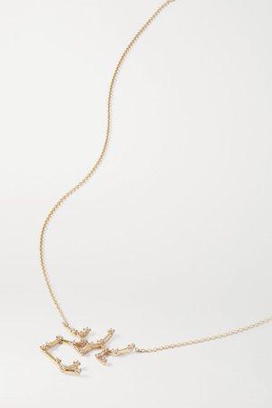 Gold Celestial Sagittarius 10-karat gold diamond necklace | SARAH & SEBASTIAN | NET-A-PORTER