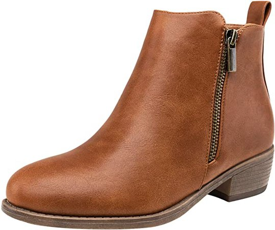Amazon.com | Jeossy Women's Ankle Boots Thick Heel Low Heeled Bootie for Women | Ankle & Bootie