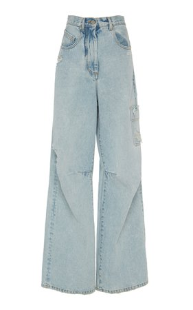 Cargo Jeans With Fringe Trim by Off-White c/o Virgil Abloh | Moda Operandi