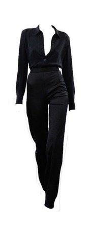 black outfit pant shirt