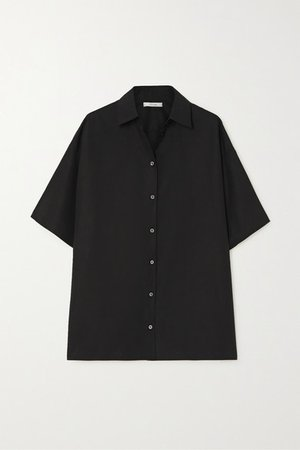Sissa Cotton-poplin Shirt - Black