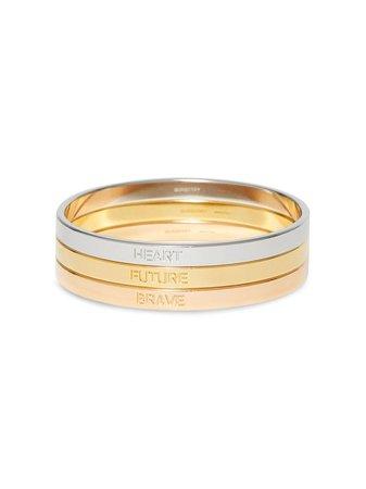 Burberry Slogan Bracelet Set - Farfetch