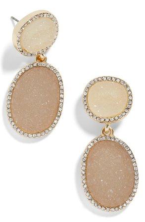 BaubleBar Krystal Faux Drusy Drop Earrings | Nordstrom