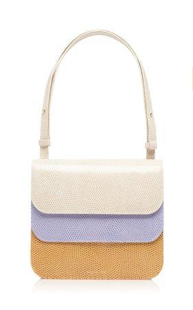 Ana Color-Block Lizard-Effect Leather Shoulder Bag by Rejina Pyo | Moda Operandi