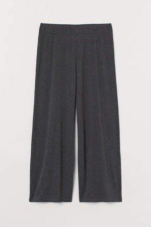 Wide-cut Pants - Gray
