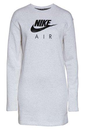Nike Sportswear Air Graphic Sweatshirt Dress white