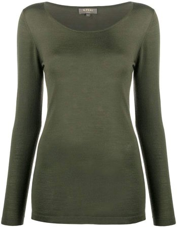 long sleeved cashmere top