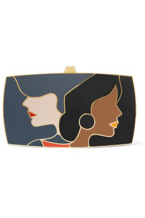 13BC | The First Encounter gold-tone and enamel clutch | NET-A-PORTER.COM