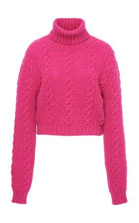 Cropped Cable Knit Sweater by Versace | Moda Operandi