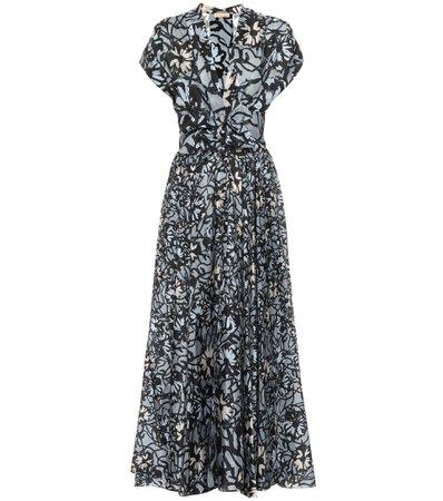 Alaïa, Floral silk midi dress
