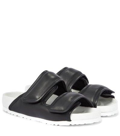 Birkenstock - x CSM Cosy leather sandals   Mytheresa