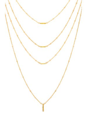 Ombre Bar Multi Charm Necklace