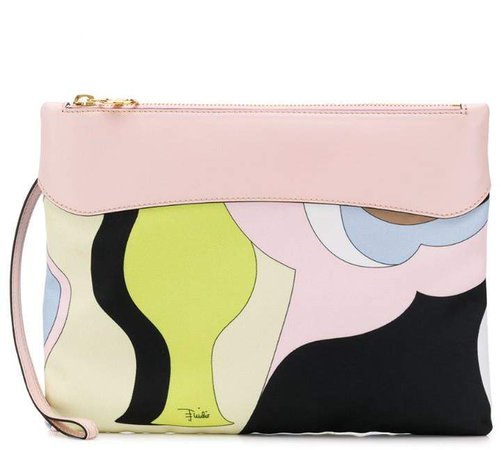 statement print clutch bag