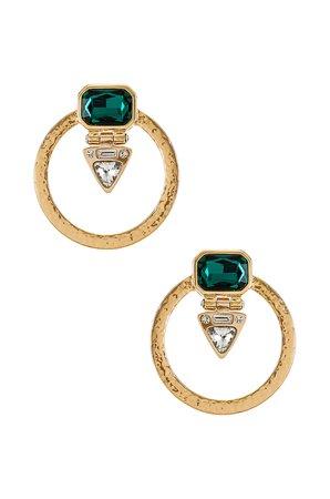 Epifene Azulik Earrings in Gold | REVOLVE