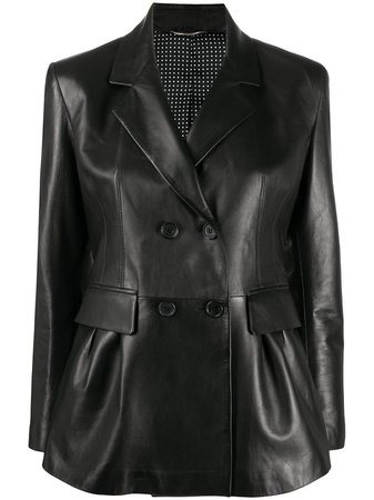 Ermanno Scervino Leather Double Breasted Jacket - Farfetch