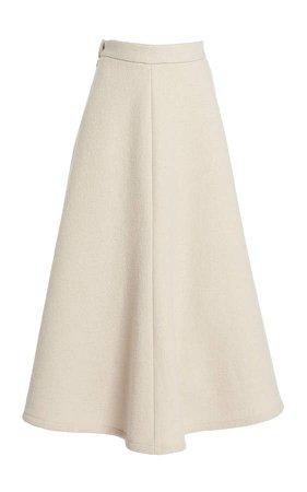 Rosie Assoulin High-Rise Wool Skirt