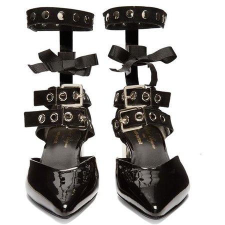 Robert Clergerie X Self-Portrait Susa patent-leather pumps