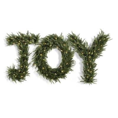 joy Christmas greenery