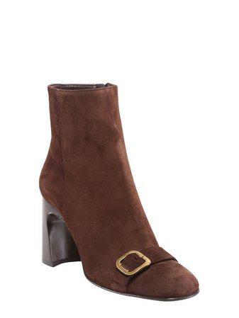 Tod's Buckle Detail Block Heel Ankle Boots – Cettire