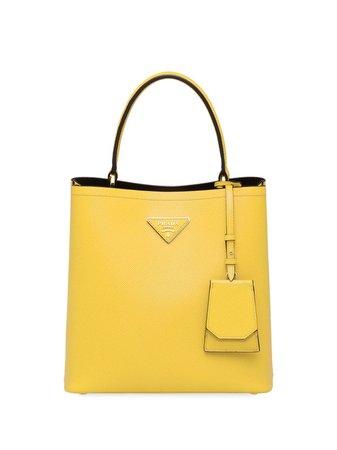 Yellow Prada Panier Medium Bag | Farfetch.com