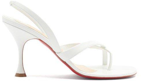 Taralita 85 Leather Slingback Sandals - White