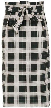 Andrea Marques check midi skirt