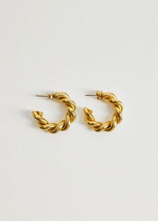Intertwined hoop earrings - Women | Mango USA