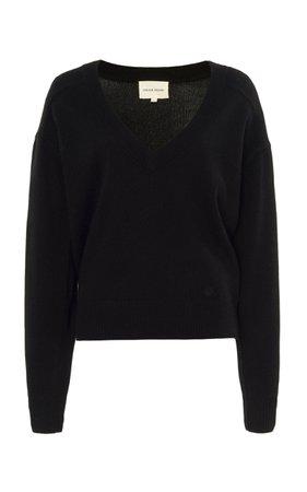 Piana V-Neck Cashmere Sweater by Loulou Studio   Moda Operandi